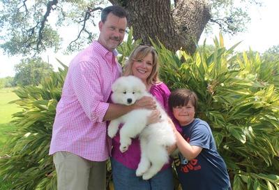 2016 - Bob, Monica & Luke Tabor with Teddy (Green Boy)