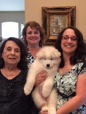 2016 - Barbara, Kathleen & Mellisa with Klieg (Blue Boy)